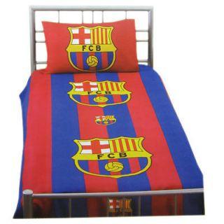 FC Barcelona Football Club Crest Single Duvet Cover & Pillowcase Free