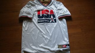 Michael Jordan Olympics USA United States Jersey Basketball NBA Sz L