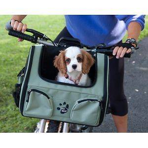 in 1 Bike bicycle Basket Pet Tote + Dog airline Carrier Bag + travel