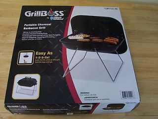 Grillboss Portable Charcoal Barbecue Grill BBQ Tailgate Camping NIB