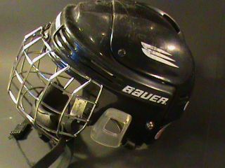 Bauer HH4000XS Youth Hockey Helmet with Cage & Chin Strap BLACK