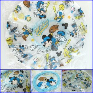 Shower Hat Cap Bath Plastic PVC Lady Accessories Mickey Mouse Baseball