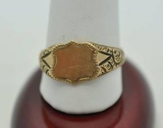 antique gold signet ring in Vintage & Antique Jewelry