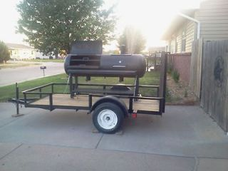 BBQ Smoker with a Custom Trailer. BRAND NEW