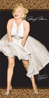 Marilyn Monroe Beach Towel Leopard 30x60 Hollywood star