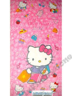 Hello Kitty Beach Towel 100% Cotton Balloons Red Brand New