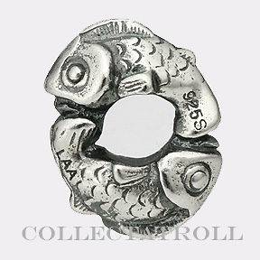Newly listed Authentic TrollBeads Silver Happy Fish bead Troll bead