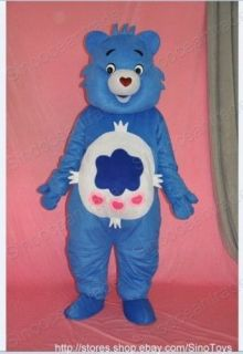 Care Bear Blue Mascot Costume Fancy Dress Outfit