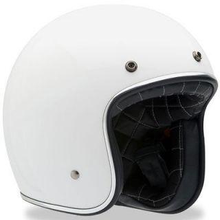 Bell Custom 500 Vintage Motorcycle Helmet Silver Flake Medium