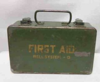 VINTAGE BELL TELEPHONE SYSTEM D * First Aid Box