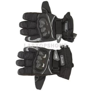 New Motorcycle Bike Carbon Fiber Waterproof Warm Gloves Black M/L/2XL