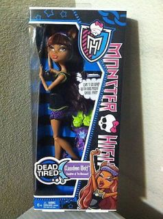 Dead Tired Doll Clawdeen Wolf Daughter of The Werewolf New In Hand