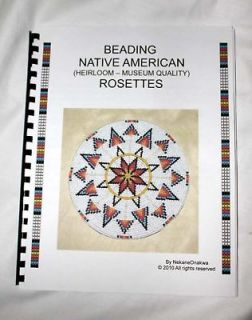 ROSETTE AMERICAN NATIVE BEADBOARD BEADING BOOK  HOW TO BEAD