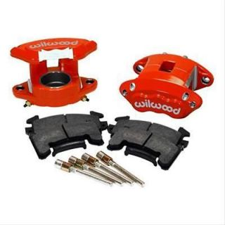 Wilwood Brake Calipers and Pads GM D154 Driver Side Front Aluminum Red