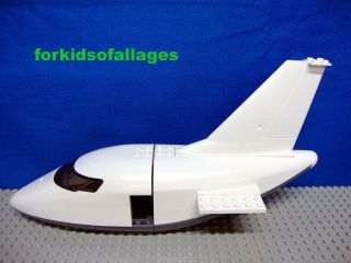 Lego AIRPLANE JET PARTS Lot: Large Plane Cockpit Fuselage Tail Wing