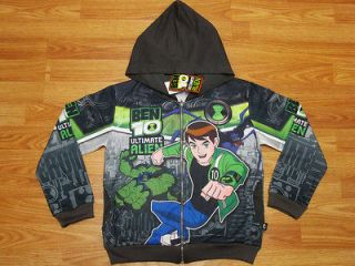 Ben 10 Ultimate Alien Hooded Jacket #987 Charcoal Size 14 age 12 14