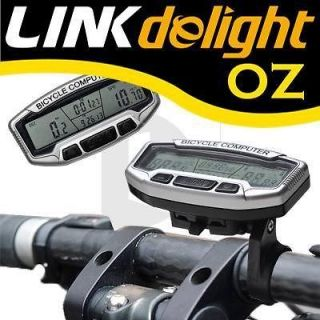 Black LCD Bicycle Road Bike MTB Computer Odometer Speedometer