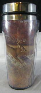 Hayden Lambson Deer Big Buck Travel Mug Insulated Tumbler Cup Coffee