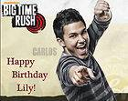 Edible Cake Frosting Image Topper Birthday BIG TIME RUSH   CARLOS