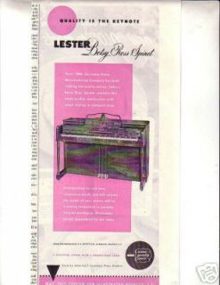 Lester Baby Ross Spinet Piano Print Ad 1948