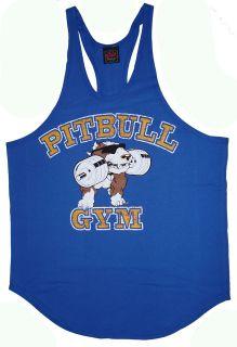 P312 Pitbull Gym Mens String Tank Top Stone logo