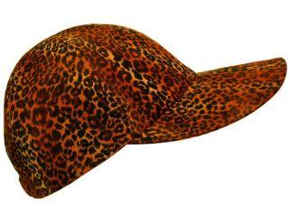 Cat   Rust Brown Leopard Cheetah Jaguar print Ladies Baseball Cap Hat