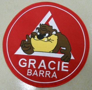 GRACIE BARRA TAZ 10 BACK OF GI JIU JITSU BJJ MMA PATCH