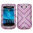 Cautions Diamante Bling Case Phone Cover for RIM Blackberry Torch 9800
