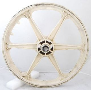 Used Skyway O.E. White 6 Spoke BMX Mag Rear Wheel 20 Radical