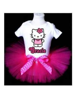BIRTHDAY HELLO KITTY TUTU OUTFIT PINK DRESS 1ST 2ND 3RD 4TH 5TH 6TH