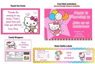 Hello Kitty Luau ~ Birthday Party Ticket Invitations, Supplies, Favors