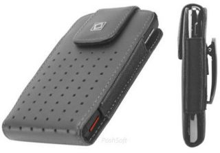 Leather VERTICAL Case Pouch Holder for NOKIA Phones. Black + Holster