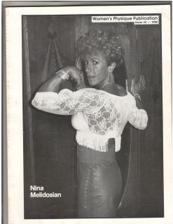 Physique Publication Female Bodybuilding Nina Melidosian/ Schreiner #4