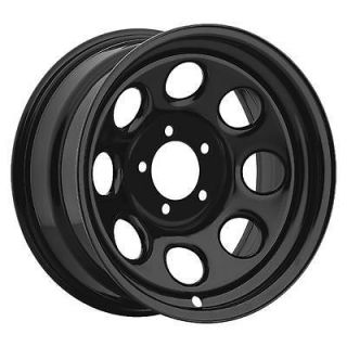 Cragar Soft 8 Black Steel Wheels 17x9 5x4.5 BC Set of 2