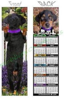 PINSCHER 2013 CALENDAR PUPPY DOG Bookmark Book Mark Art Card ORNAMENT