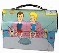 Beavis and Butthead Metal Tin Lunch Box Gum Cool Vintage NEW Carrier