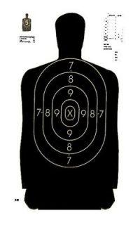125 B29 SILHOUETTE PISTOL RIFLE SHOOTING TARGETS