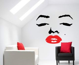 RETRO MARILYN MONROE FACE WALL TRANSFER VINYL ART DECAL GRAPHICAL