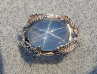 LINDE LINDY TRANS BLUE STAR SAPPHIRE CREATED RING