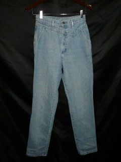 80s Rockies Western Light Blue Jeans XS S High Waist Denim West