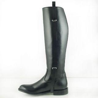 DG MEN BUCKLE DRESS TALL HORSE RIDING BOOTS BLACK Slim, Sizes 7 13