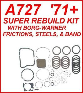 A727 TF 8 TRANSMISSION SUPER REBUILD KIT WITH BORG WARNER FRICTIONS