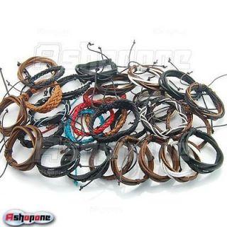 Hemp Wrap Surfer Genuine Leather Handmade Braided Bracelet Wristband