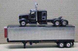 DCP ISSUED RAT ROD KENWORTH W900 CHROMED VINTAGE REFRIGERATED TRAILER
