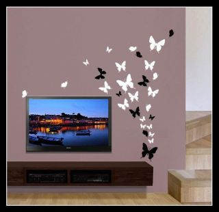 Up to 53 Mixed Butterfly Bedroom Bathroom Kitchen Wall Art Stickers