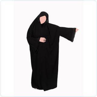 Black Jannah Abaya Overhead Style Farasha Jilbab Umrah hijab farasha