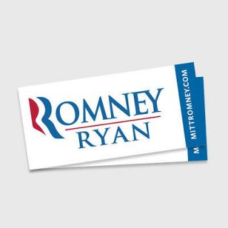 10) Official Romney Ryan 2012 Bumper Stickers   Mitt Paul Republican