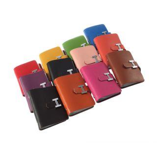 Cute Bowknot Business ID Credit Card Pocket Bag Wallet Holder Case Box