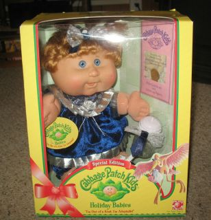 2005 Cabbage Patch Kids, Special Edition Holiday Babies, blonde with