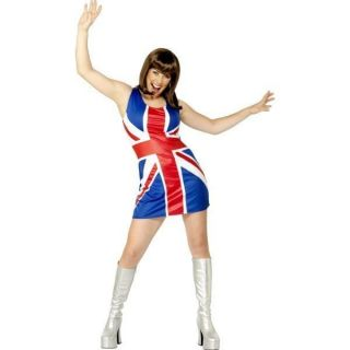 Womens Union Jack Ginger Spice Smiffys Fancy Dress Costume   M